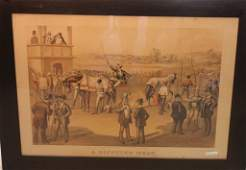 FRAMED COLORED LITHOGRAPH BY CURRIER  IVES