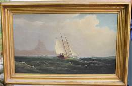 FRAMED OIL PAINTING ON CANVAS, LATE 19TH C,