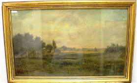 FRAMED OIL PAINTING ON CANVAS BY ALEXANDER WYANT