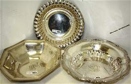 THREE STERLING SILVER BOWLS TO INCLUDE GORHAM