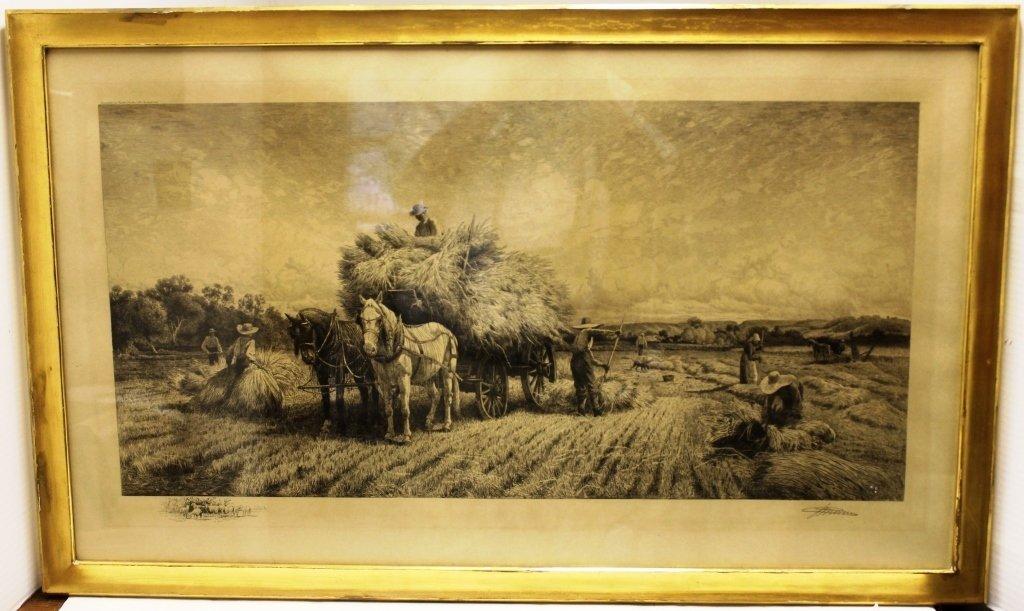 ETCHING BY PETER MORAN (PENN ARTIST 1841-1914),