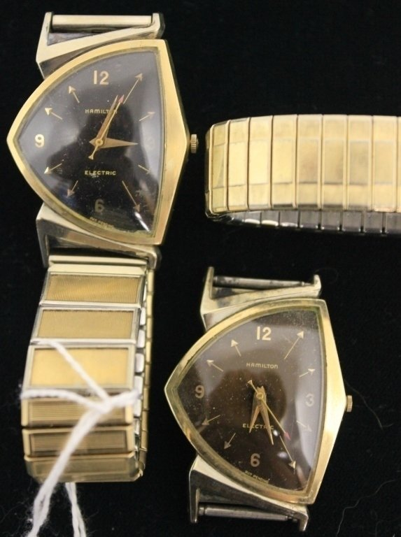2 VINTAGE MEN'S HAMILTON ELECTRIC WATCHES, PACER