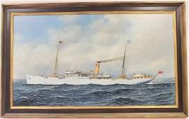 ANTONIO JACOBSEN (1850-1921, ACTIVE NY & NJ), OIL
