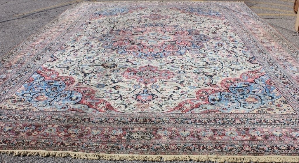 EARLY 20TH C PERSIAN PALACE SIZE RUG, POSSIBLY