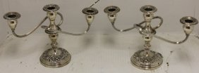 Pair Of Sterling Silver Candlesticks By S. Kirk