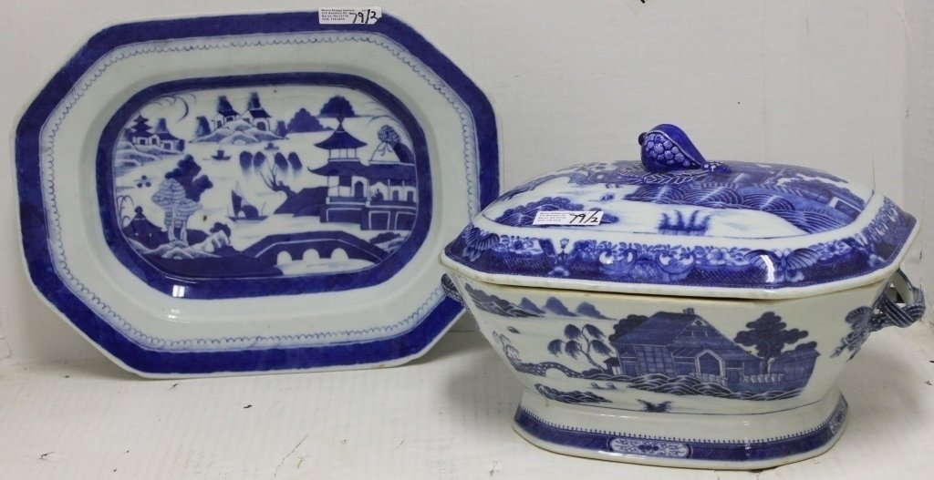 2 PC LOT INCLUDING EARLY 19TH C CHINESE EXPORT