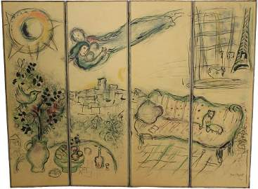 MARC CHAGALL (1887-1985, BORN IN RUSSIA, ACTIVE