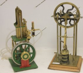 Two 19th And 20th C Steam Pumps. 1 Is Brass.