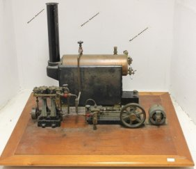 Early 20th C Steam Driven Generator System Model,