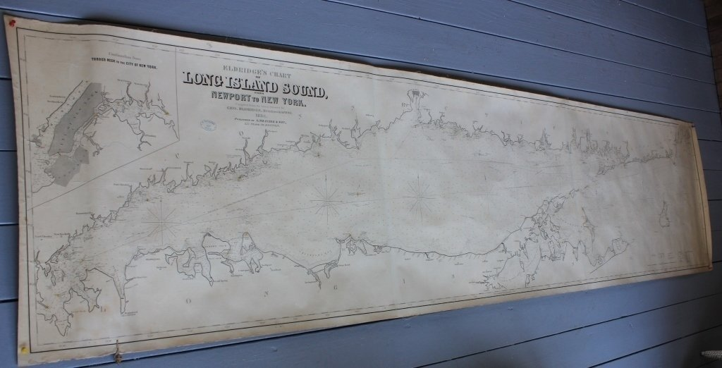 1886 ELDRIDGE'S NAUTICAL CHART OF LONG ISLAND