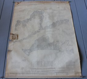 1860 Nautical Chart, Coast Of U.s., Monomoy And
