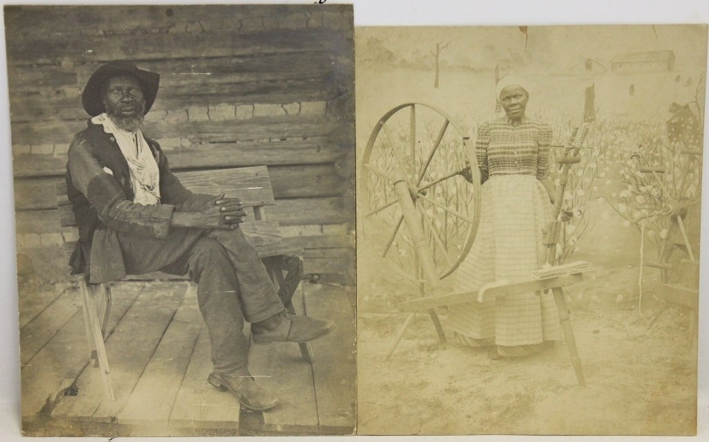 2 EARLY PHOTOGRAPHS OF AFRICAN AMERICANS, TAKEN