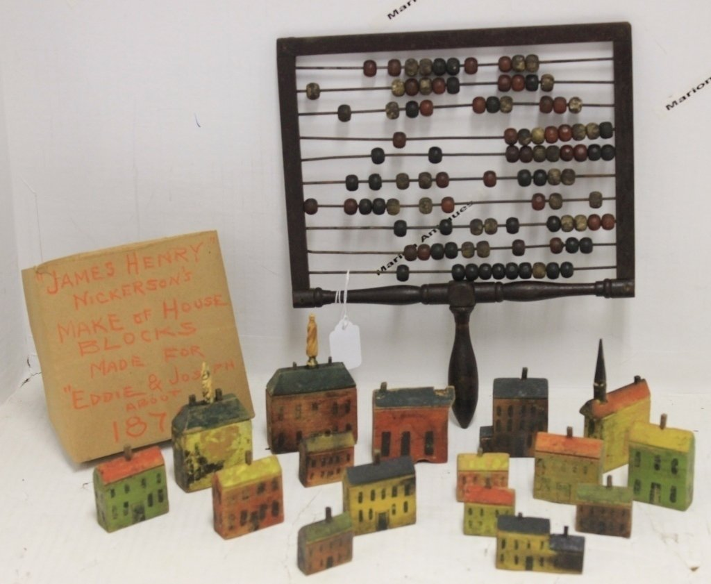 LOT OF 19TH C TOYS TO INCLUDE HAND HELD ABACUS,