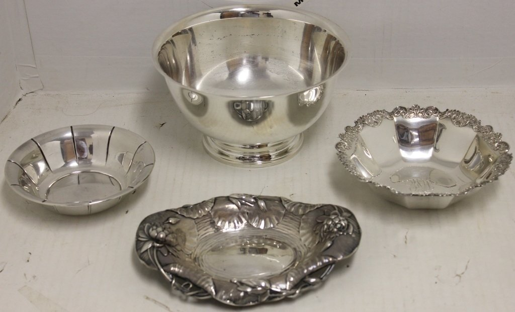 4 STERLING SILVER BOWLS TO INCLUDE PAUL REVERE