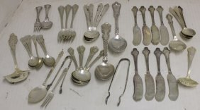 41 Pcs Of Sterling Silver Flatware To Include