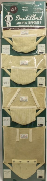 ATHLETIC SUPPORTER STORE DISPLAY, DURILILKNIT