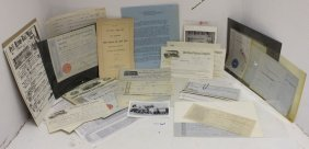 50 Pcs. Of Ephemera Related To Railroads, Mostly