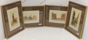 4 Antique Hand Tinted Photographs By Wh Jackson,