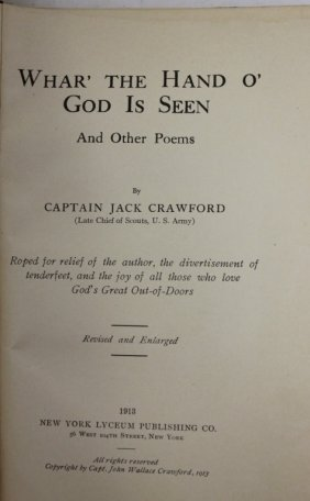 Book, Titled Whar' The Hand O' God Is Seen And