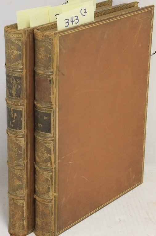 2 LEATHER BOUND VOLUMES, WILL DANIEL'S