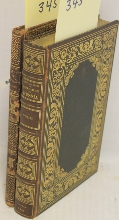 2 LEATHER BOUND BOOKS RELATED TO NAPOLEON.