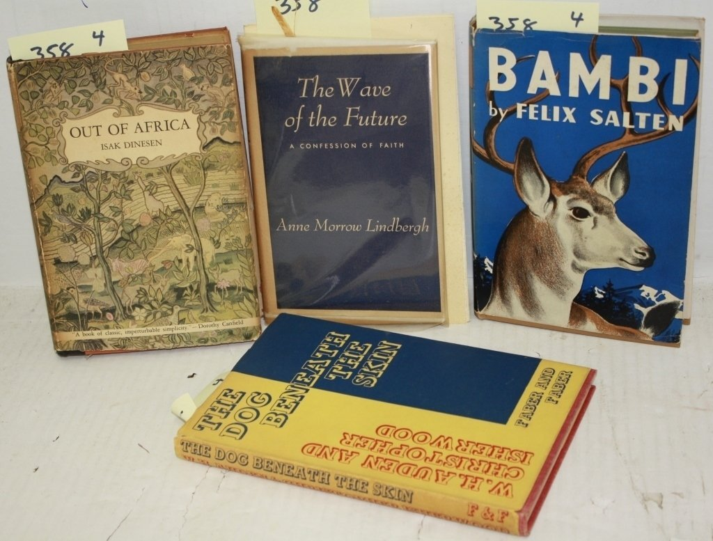 4 BOOKS INCLUDING  1.  THE WAVE OF THE FUTURE