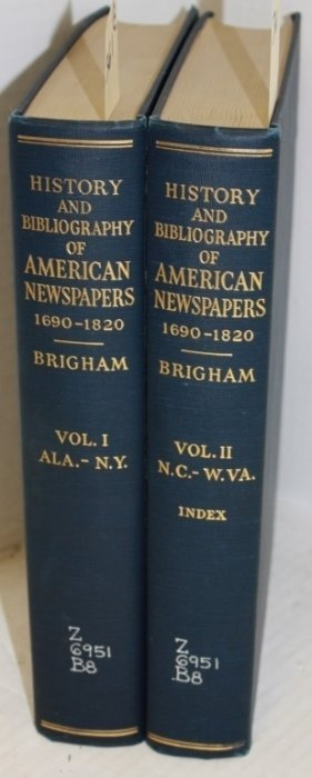 2 Volume Set History And Bibliography Of American