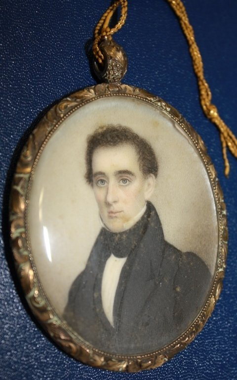 AMERICAN MINIATURE PORTRAIT OF A FEDERAL PERIOD