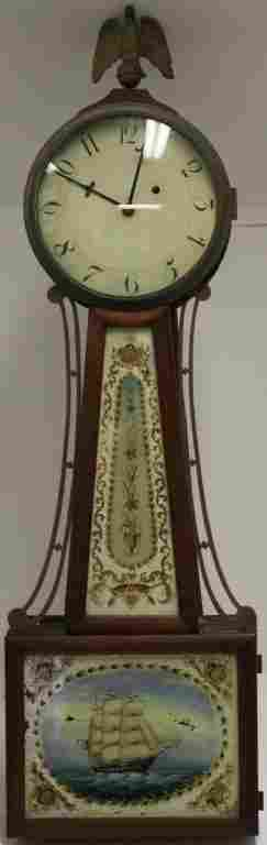 RARE EARLY 20TH C AMERICAN BANJO CLOCK WITH