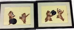 2 Original Walt Disney Chip n Dale Sericels Animation