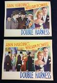 2 Original Movie Lobby Card Double Harness