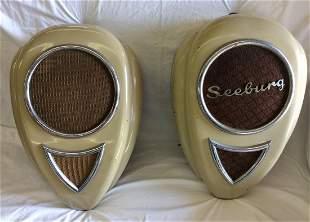 Pair Vintage Teardrop Seeburg Wall Speakers