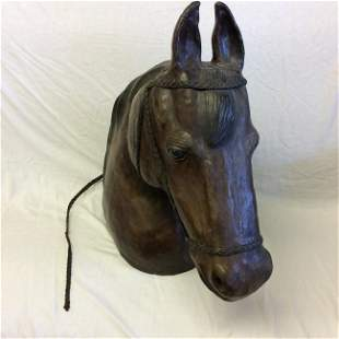 Leather Horse Head Bust