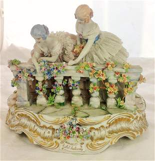 """Luigi Fabris Al Balcone """"To The Balcony"""" Porcelain"""