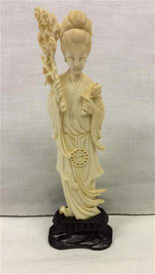 Chinese Guan Yin Woman Carving Sculpture