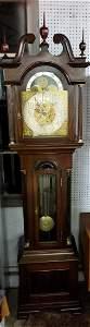 Waterbury Mahogany Grandfather Tall Case Clock