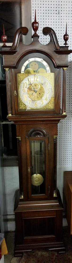 Waterbury Mahogany Grandfather Tall Case Clock
