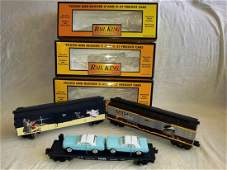 MTH Rail King set of Two Box Cars And Transport