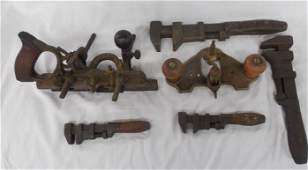 Lot of 6 Antique Tool Stanley 45 Plane 71 Router Coes