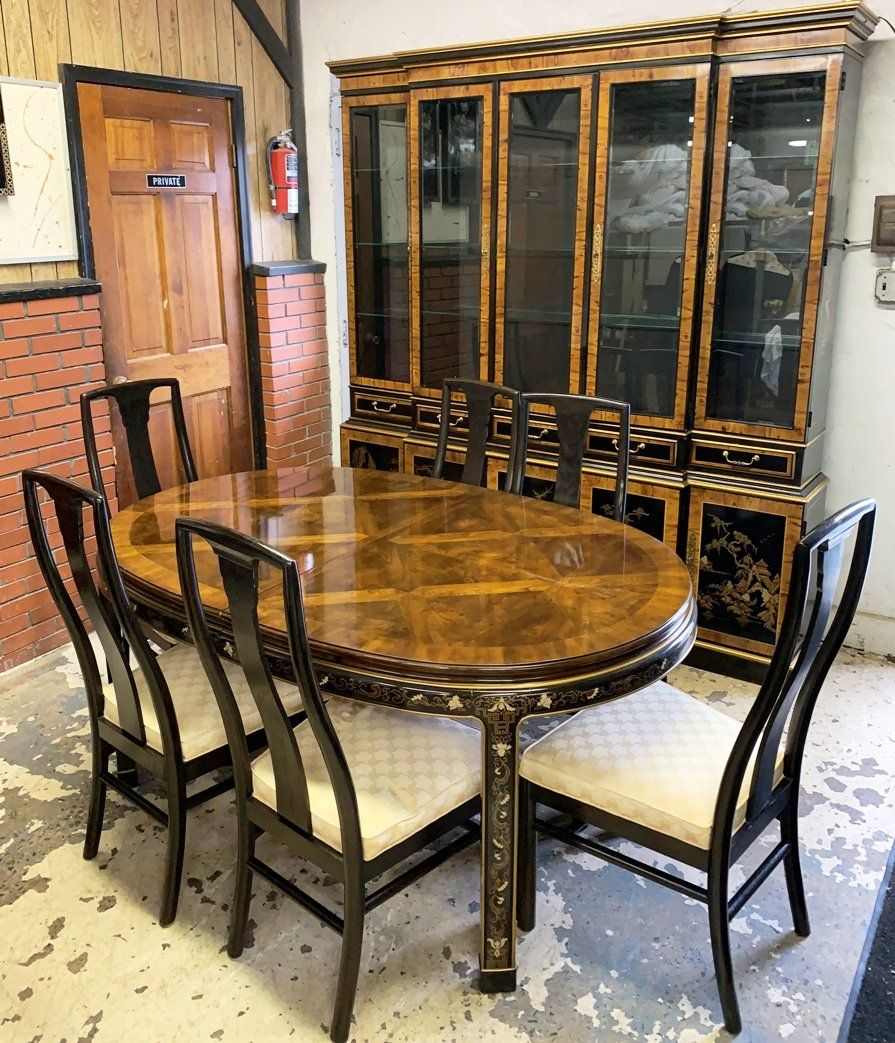 Drexel Heritage 8 Pc Chinoiserie Dining Room Set Nov 07 2018 Wilson S Auctioneers Appraisers In Pa