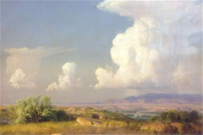 Wilson Hurley Landscape Oil Painting on Canvas Franklin