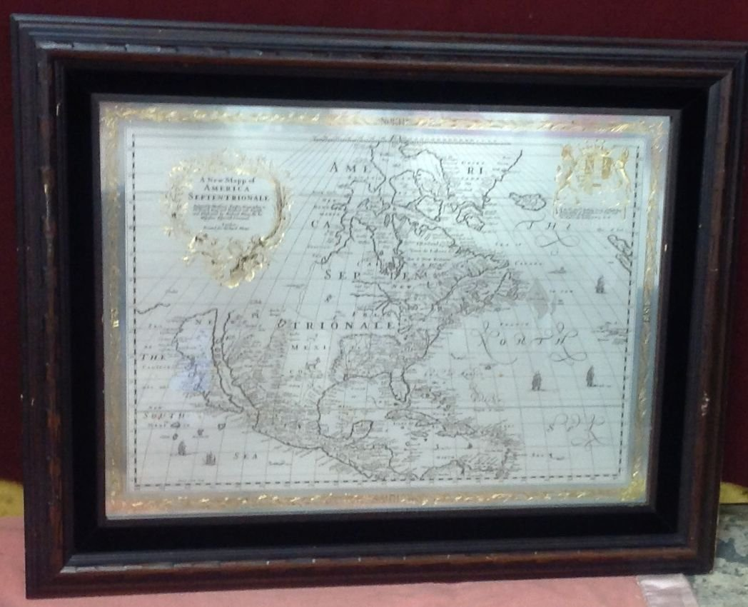 Franklin Mint Sterling Silver Map of North America LE