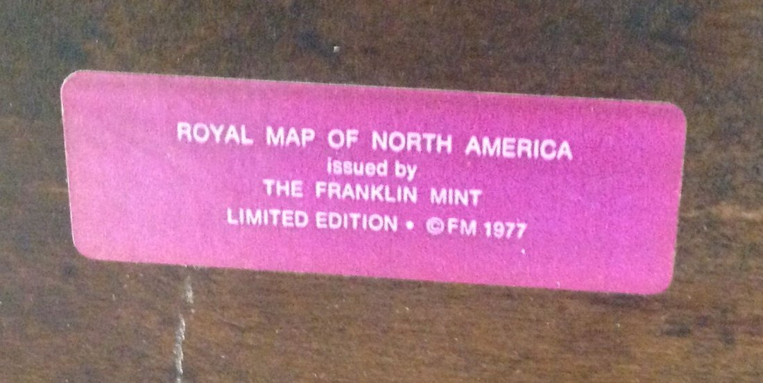 Franklin Mint Sterling Silver Map of North America LE - 3