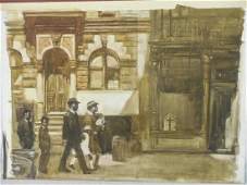 Burt Silverman Original Watercolor Painting