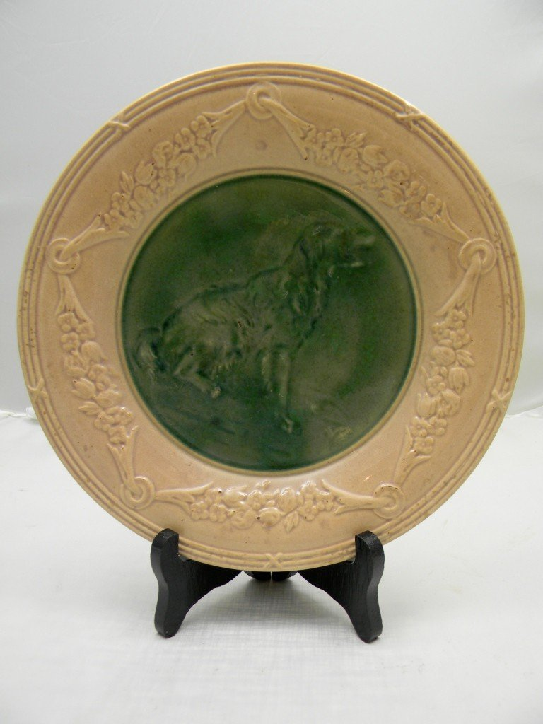 "4: Etruscan Classical Series Dog Plate 9"".  Made by Gri"