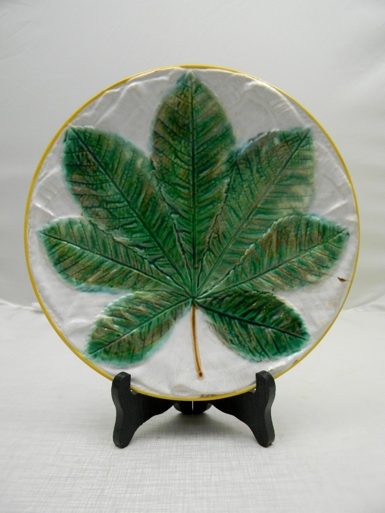 "6: George Jones Chestnut Leaf 9"" Napkin Plate."
