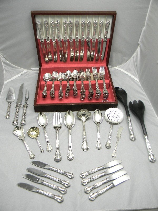 505: 144pcs Gorham Sterling Chantilly Pattern Flatware