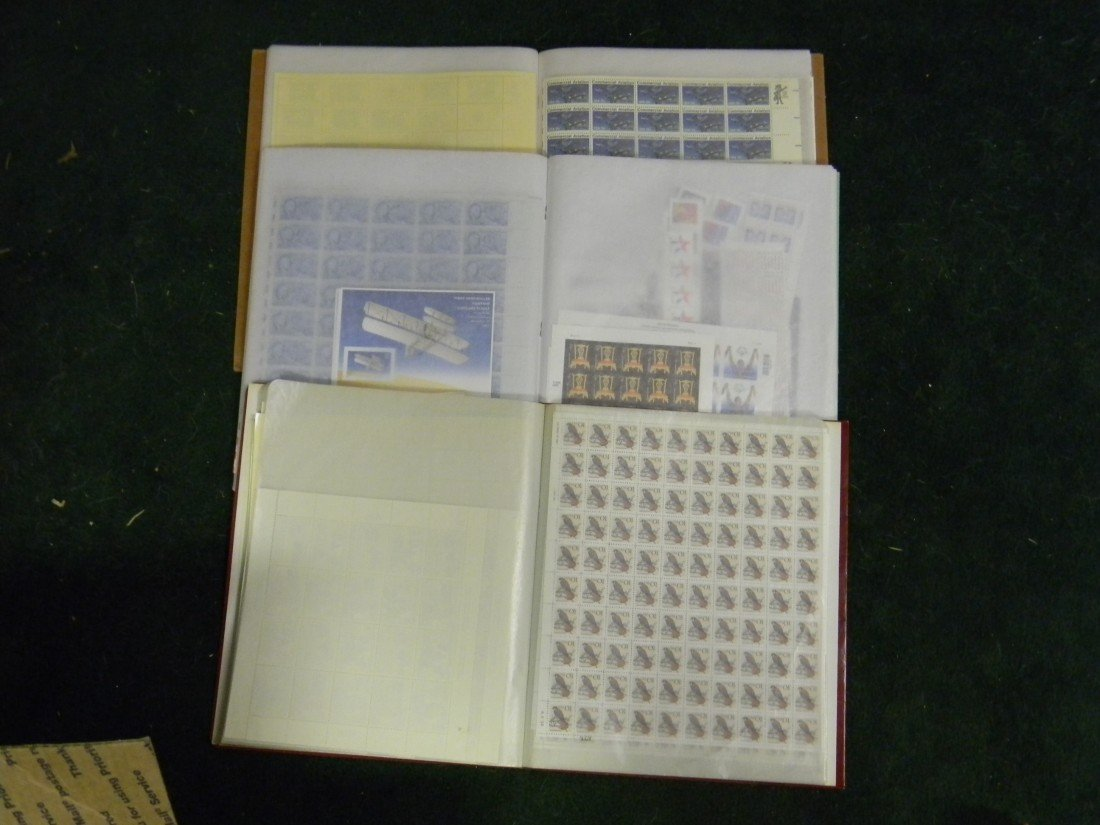24: 3 packed sheet files of unused U.S. in full sheets,