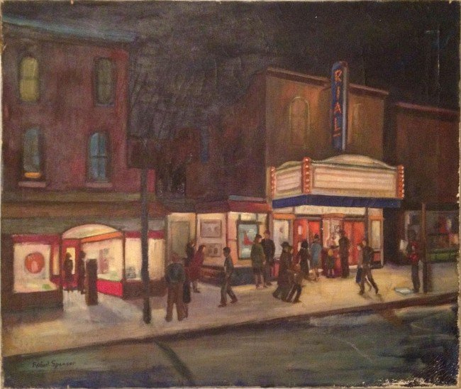 118: Robert Spencer, Rialto Theater,  Oil painting on C