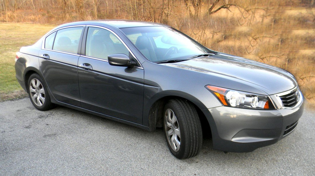 249: 2009 Honda Accord, Gray exterior with black leathe